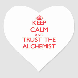 Keep Calm and Trust the Alchemist Heart Stickers