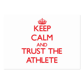 Keep Calm and Trust the Athlete Business Card Template