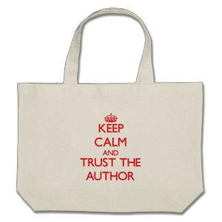 Keep Calm and Trust the Author Canvas Bag