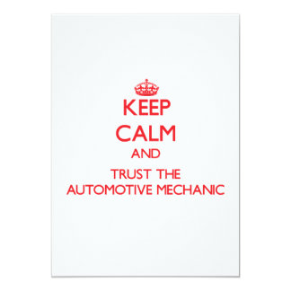 Keep Calm and Trust the Automotive Mechanic Cards