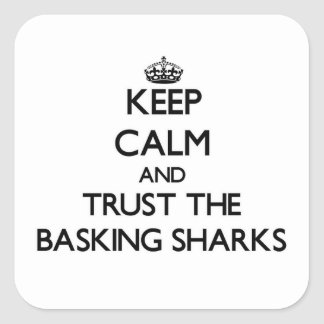 Keep calm and Trust the Basking Sharks Square Sticker