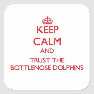 Keep calm and Trust the Bottlenose Dolphins Stickers