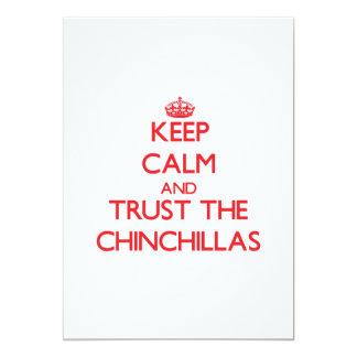 Keep calm and Trust the Chinchillas Personalized Invite