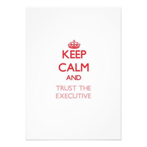 Keep Calm and Trust the Executive Cards