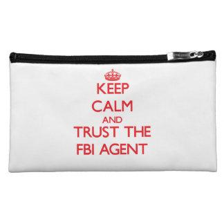 Keep Calm and Trust the Fbi Agent Makeup Bag