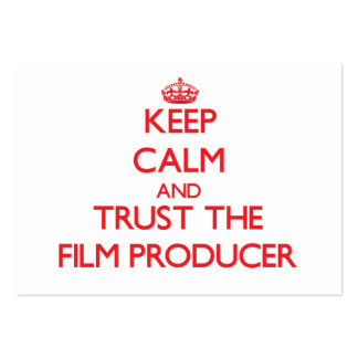 Keep Calm and Trust the Film Producer Business Card Template