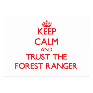 Keep Calm and Trust the Forest Ranger Pack Of Chubby Business Cards