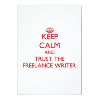 Keep Calm and Trust the Freelance Writer Custom Invitations