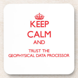 Keep Calm and Trust the Geophysical Data Processor Drink Coaster