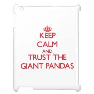 Keep calm and Trust the Giant Pandas iPad Covers