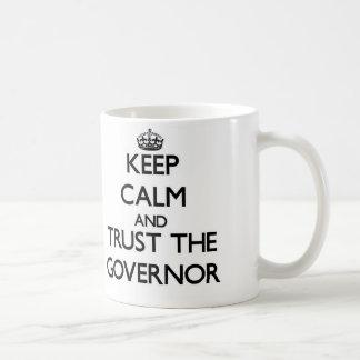 Keep Calm and Trust the Governor Basic White Mug