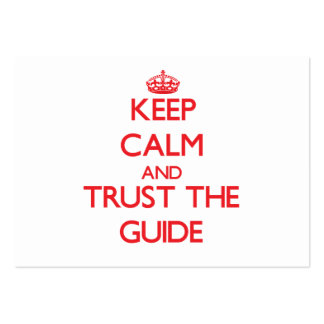 Keep Calm and Trust the Guide Business Cards