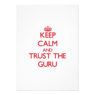 Keep Calm and Trust the Guru Invite