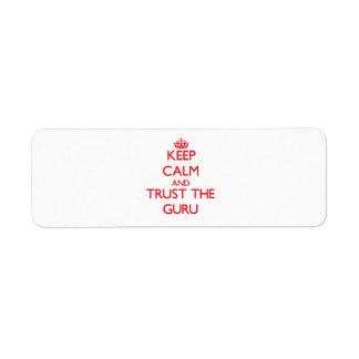 Keep Calm and Trust the Guru Return Address Label