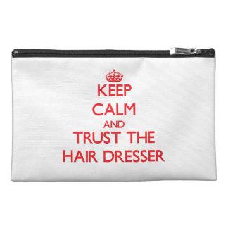 Keep Calm and Trust the Hair Dresser Travel Accessory Bag