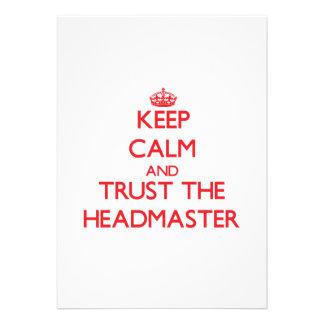 Keep Calm and Trust the Headmaster Invite