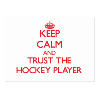 Keep Calm and Trust the Hockey Player Business Card Template