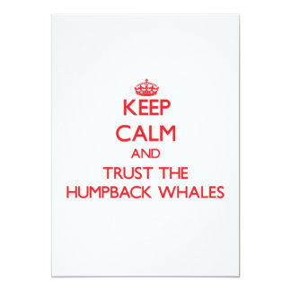 Keep calm and Trust the Humpback Whales Custom Invite