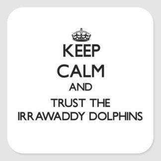 Keep calm and Trust the Irrawaddy Dolphins Square Sticker