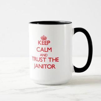 Keep Calm and Trust the Janitor Mug