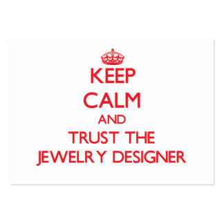 Keep Calm and Trust the Jewelry Designer Business Card