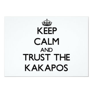 Keep calm and Trust the Kakapos 13 Cm X 18 Cm Invitation Card