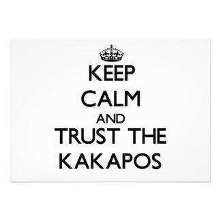 Keep calm and Trust the Kakapos Card