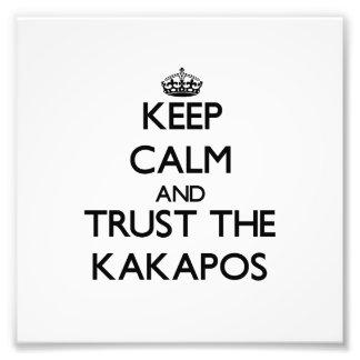 Keep calm and Trust the Kakapos Photo Print