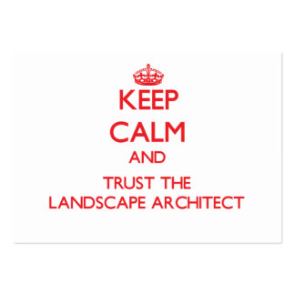 Keep Calm and Trust the Landscape Architect Business Card Template