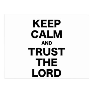 Keep Calm and Trust the Lord Postcard