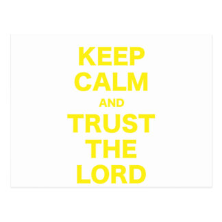 Keep Calm and Trust the Lord Postcards