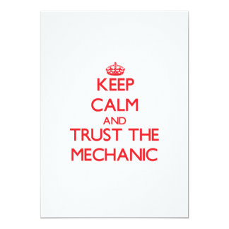 "Keep Calm and Trust the Mechanic 5"" X 7"" Invitation Card"