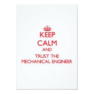 Keep Calm and Trust the Mechanical Engineer Announcement