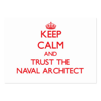 Keep Calm and Trust the Naval Architect Business Cards