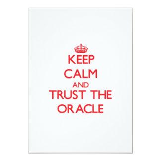 Keep Calm and Trust the Oracle Custom Invite