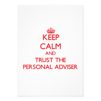 Keep Calm and Trust the Personal Adviser Card