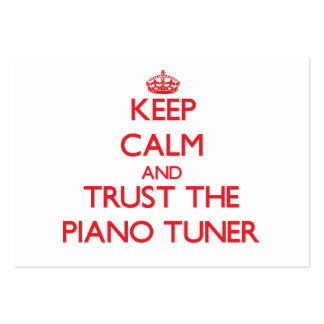 Keep Calm and Trust the Piano Tuner Business Card Template