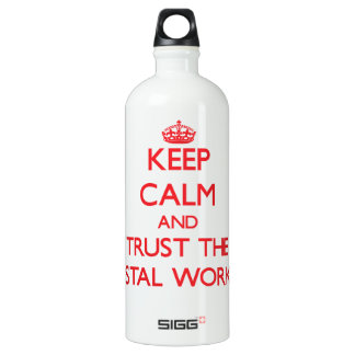 Keep Calm and Trust the Postal Worker SIGG Traveller 1.0L Water Bottle