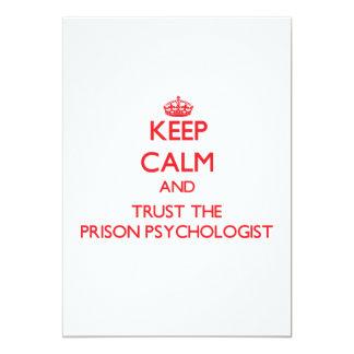 Keep Calm and Trust the Prison Psychologist Custom Invite