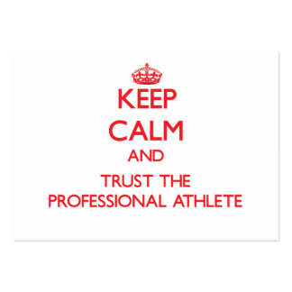 Keep Calm and Trust the Professional Athlete Business Card Template