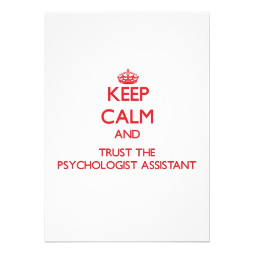 Keep Calm and Trust the Psychologist Assistant Personalized Invite