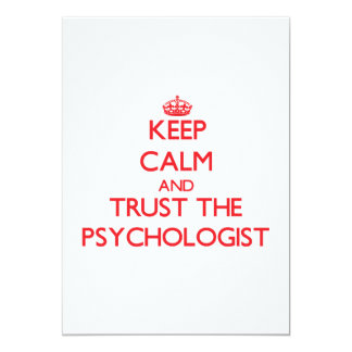 Keep Calm and Trust the Psychologist Custom Invitation