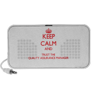 Keep Calm and Trust the Quality Assurance Manager Portable Speakers