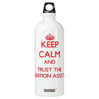 Keep Calm and Trust the Recreation Assistant SIGG Traveller 1.0L Water Bottle