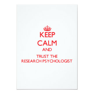 Keep Calm and Trust the Research Psychologist Custom Invite