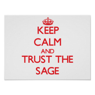Keep Calm and Trust the Sage Posters