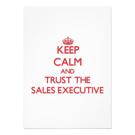 Keep Calm and Trust the Sales Executive Invitation
