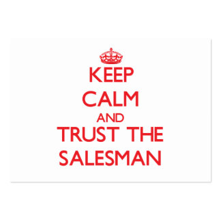 Keep Calm and Trust the Salesman Business Card Template
