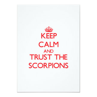 Keep calm and Trust the Scorpions Personalized Announcement