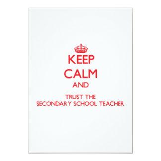 Keep Calm and Trust the Secondary School Teacher Announcement